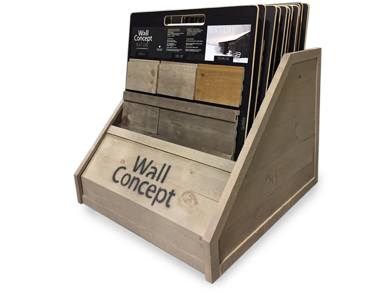 Wall concept wood wall - Shamrock